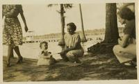 Edwin White's daughter and Dr. Fox at Lake Bradford