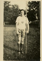 Anne Harwick with Javelin