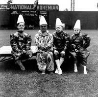 Jimmy Armstrong and three other clowns
