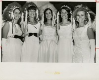 Five Women in White Gowns and Headresses