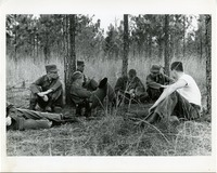 Cadets Sitting in the Woods