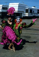 Dancer and clown