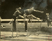Floyd Lorenz Running the 120 Meter High Hurdles