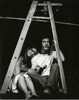 "Pam Walker and John McFarland in the Hut Scene from ""The Diary of Adam and Eve"""