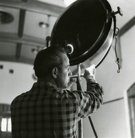 WFSU Technician Directing a Spotlight