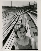 Woman in Bleachers