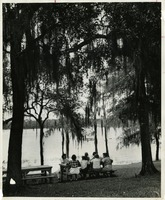 Students at Picnic Table at FSU Reservation