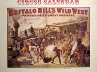 Buffalo Bill's Wild West and Pawnee Bill's Great Far East circus calendar