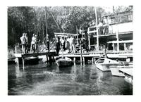 People standing on a dock