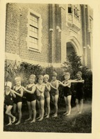 Group of Children Outside of the Physical Education Building