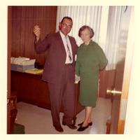 Allen Clements and Mildred Pepper at Claude Pepper's law office