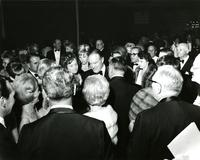 Bob Hope and Mildred Pepper in a large crowd