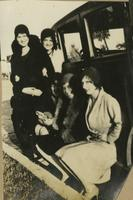 Five Unidentified Women with a Car