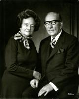 Studio portrait photo of Mildred and Claude Pepper