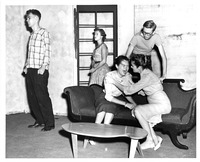 Speech theater students rehearsing a play, 1956