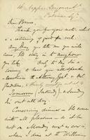 Letter from Edward Lear to Henry Bruce, undated
