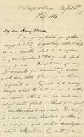 Letter from Edward Lear to Henry Bruce, September 8, 1866