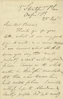Letter from Edward Lear to Nora Bruce, November 25, 1868