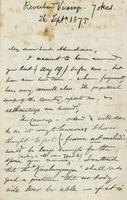 Letter from Edward Lear to Henry Bruce, September 26, 1875