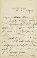 Letter from Edward Lear to Henry Bruce, August 11, 1877