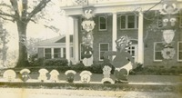 Homecoming Props Outside Alpha Delta Pi House
