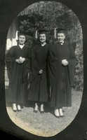 Lillian Mook, Anna Lee Overbay, and Mary Nancy Sammon in Cap and Gowns