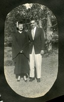 Anna Lee Overbay and George Carr on Graduation Day