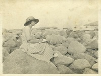 Unidentified Woman on Rocks