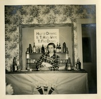 Mary Lou Norwood Behind the Bar