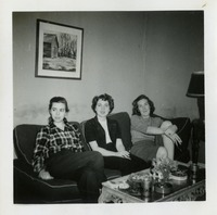 Mary Lou Norwood and Two Women on Sofa