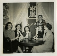Mary Lou Norwood and Five Women at Table
