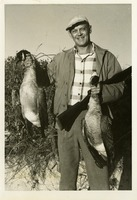 Herb Heins with Geese