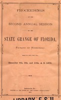 Proceedings of the Second Annual Session of the State Grange of Florida, Patrons of Husbandry