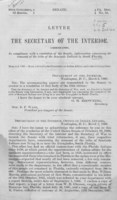 Letter of the Secretary of the Interior, communicating, in compliance with a resolution of the Senate, information concerning the remnant of the tribe of the Seminole Indians in South Florida