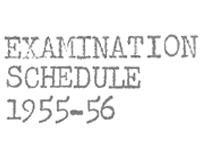 Examination Schedules